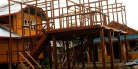 Proses Pembuatan Rumah Kayu Desa Woloan